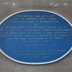 Physic Garden commemorative plaque, Waverley Station
