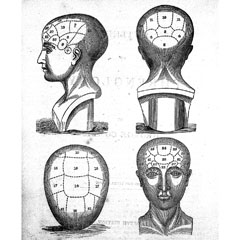 L0022893 George Combe, names of phrenological organs, 1836 Credit: Wellcome Library, London. Wellcome Images images@wellcome.ac.uk http://wellcomeimages.org Names of the phrenological organs Outlines of phrenology George A. Combe Published: 1836 Copyrighted work available under Creative Commons Attribution only licence CC BY 4.0 http://creativecommons.org/licenses/by/4.0/