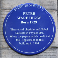 Peter Higgs plaque