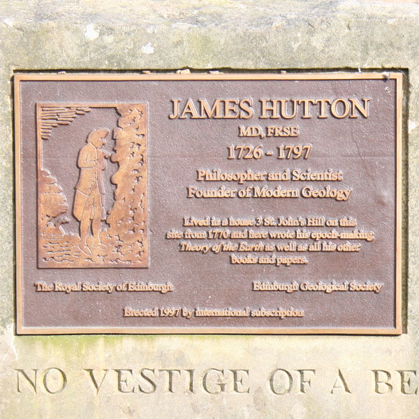 Plaque in the Hutton Memorial Garden.