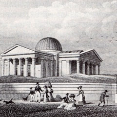 The Playfair Building at the Edinburgh City Observatory on Calton Hill, 1824.