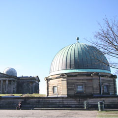 The City Observatory on Calton Hill.