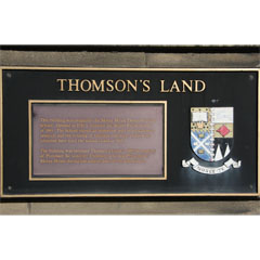 Plaque to Sir Godfrey Thomson on Thomson's Land, University of Edinburgh