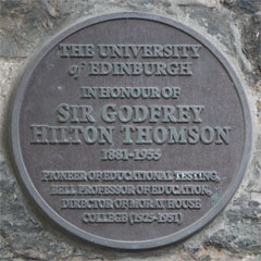 Plaque to Sir Godfrey Thompson in St John's Street.