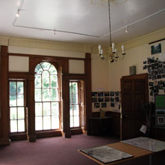Interior of John Glover Barkla's house as it is now.