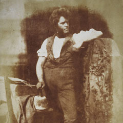 Hugh Miller (1802-56), by Robert Adamson and Octavius Hill, 1843