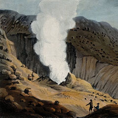 A geyser in Iceland, by J. Clark, 1811. After a sketch made by Sir George Mackenzie on his trip to Iceland.
