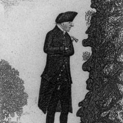 Caricature of James Hutton (1726-97).