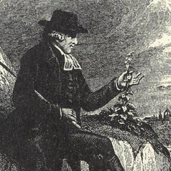 The Rev. Dr John Walker (1731-1803), from the frontispiece from a volume of the Naturalists Library (1842).