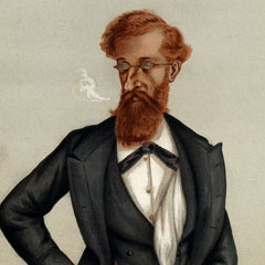 Caricature of James Ludovic Lindsay, 26th Earl of Crawford (1847–1913).