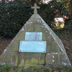 Piazzi Smyth's pyramid-shaped tombstone in the Sharow Churchyard, Yorkshire.