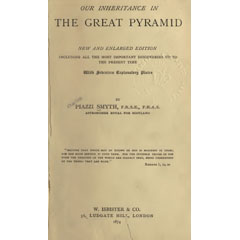 Title page of Piazzi Smyth, Our Inheritance in the Great Pyramids (1874).