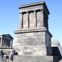 Stone edifice memorial to John Playfair on Calton Hill.