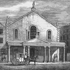 The Theatre Royal, Edinburgh, before 1830.