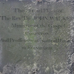 Inscription on John Walker's gravestone.
