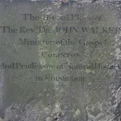 Inscription on John Walker's gravestone.