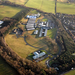The original site of the Roslin Institute from the air.