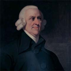 Portrait of Adam Smith (1723–1790) by an unknown artist.