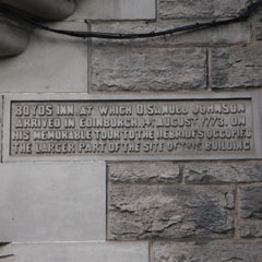 Plaque in Boyd's Entry.