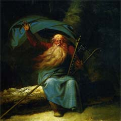Ossian Singing by Nicolai Abildgaard, 1787.