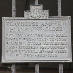 Plaque in Playhouse Close.