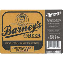 Label for Barney's Good Ordinary Pale Ale, brewed at Summerhall.