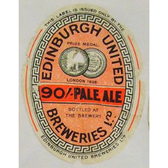 90 Shillling Pale Ale, brewed by Edinburgh United Breweries.