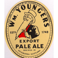 Label for William Youngers Export Pale Ale.