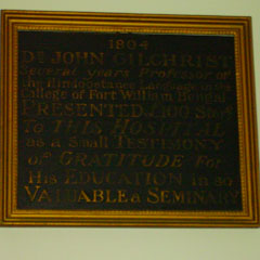 Plaque to George Borthwick Gilchrist.