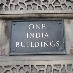 India Buildings plaque.