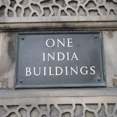 India Buildings plaque.