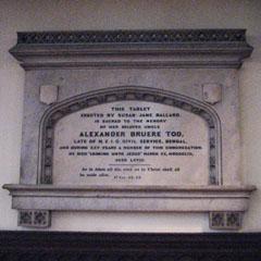 Memorial to Alexander Bruere Tod, HEICS.