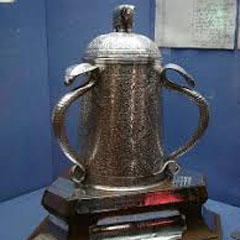 The 'Calcutta Cup' Rugby Trophy.