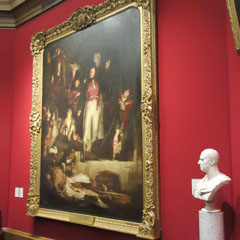 The David Baird painting and bust in the National Gallery.