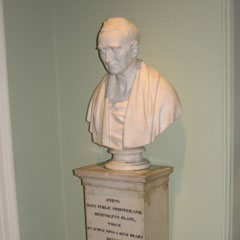 Andrew Dundan bust in Old College, Edinburgh University.