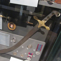 Patrick Lindesay's Indian style sword of honour, awarded for 'Gentlemanly Conduct', 1833.