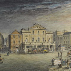 Shakespeare Square and Princes Street by John Le Conte, 1857.
