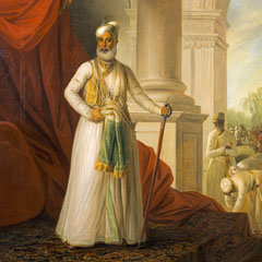 Picture of Nawab of Arcot at the Scottish National Portrait Gallery, currently in storage.