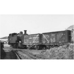 Coke train coming down from Granton Gas Works via Breakwater Junction to Granton on 4 June, 1958.