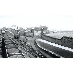 Granton Gas Works showing the old Caledonian line passing through the gates of Caroline Park to the West Pier at Granton