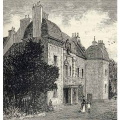 Engraving of Caroline Park