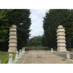 Photograph of the gates to Caroline House Park