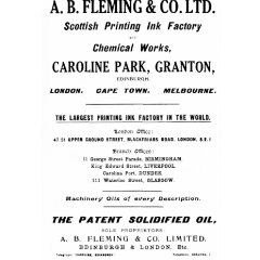 A.B. Fleming & Co Scottish Printing Ink Factory