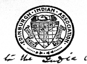 Emblem of the Edinburgh Indian Association in January 1920.