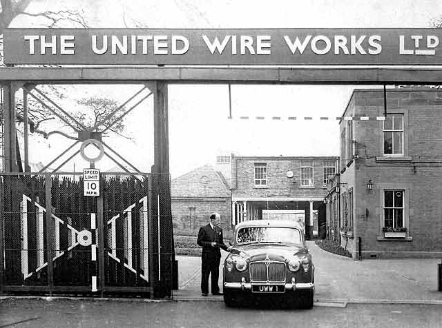 United Wire offices, showing Madelvic House and factory. The Peter Stubbs Collection.