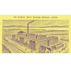 Illustration of 'Granton Works', including the factory and offices, from the original Madelvic Motor Company catalogue, printed in 1898