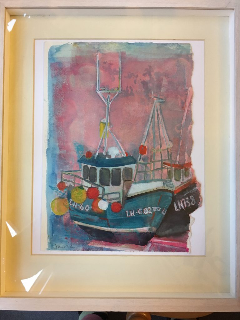 Boats at Granton Harbour by Jenny Haslam