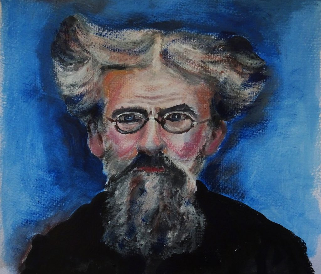 Portrait of Patrick Geddes  Inga Mantle     Patrick Geddes was the director of Education & Zoology of the Royal Scottish Marine Station (Laboratory) based at Old Sea Quarry in Granton 1884.