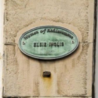 Women of Achievement plaque for Elsie Inglis