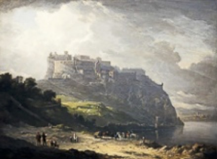 Historical reconstruction of Edinburgh Castle and the Nor` Loch by Alexander Nasmyth, 1824. (National Galleries Scotland).